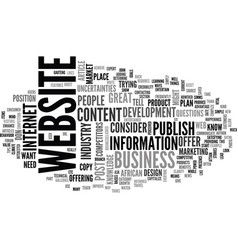 what to publish on your website content vector image vector image