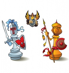 chess set bishops vector image vector image