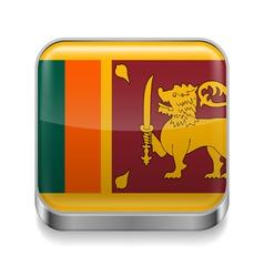 Metal icon of Sri Lanka vector image vector image