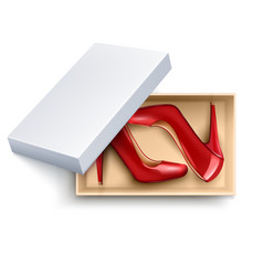 shoes in box realistic set vector image vector image