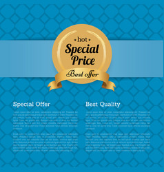 Special offer best quality hot price golden label vector