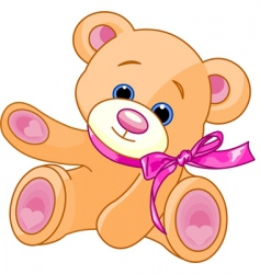 teddy bear showing vector image vector image