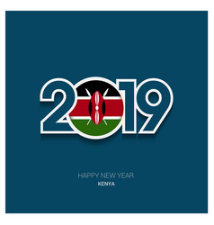 2019 kenya typography happy new year background vector