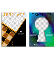 Abstract a4 brochure cover design templates vector