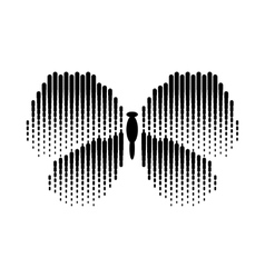 Abstract butterfly icon simple style vector