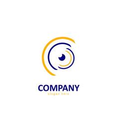 Abstract eye logo vector