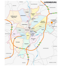 administrative and street map luxembourg city vector image