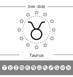 Aries signs of zodiac flat linear icons for vector