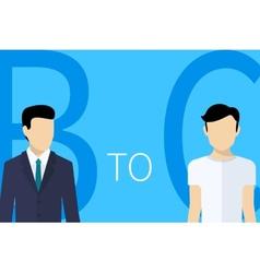 B2C concept vector image