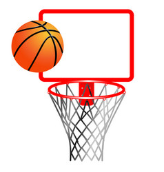 basketball ball and ring with net vector image