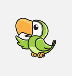 bird mascot design vector image