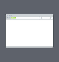 Blank browser window template with ssl green bar vector