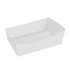blank of box packing for food popcorn box vector image