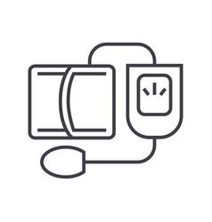 blood pressure gaugemeasuring line icon vector image