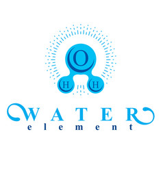 Blue h2o water logo for use as business emblem in vector