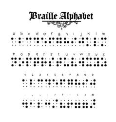 Braille alphabet vector image