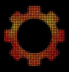 bright pixel gear icon vector image