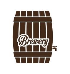 brown barrel icon image design vector image