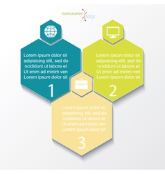Business concept design with 3 options vector image