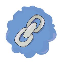 cartoon image of link icon chain symbol vector image