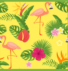 Cartoon style summer seamless pattern vector
