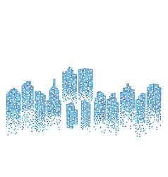 City skyline backgroud vector