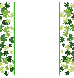 Clovers frame background vector