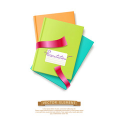 colorful stack books brochures isolated vector image