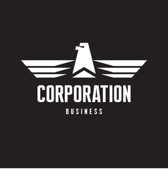 Corporation - Eagle Logo Sign in Classic Style vector