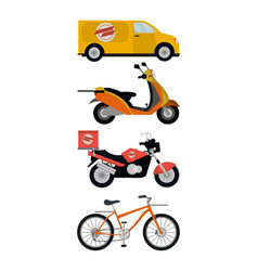 delivery service vehicles vector image