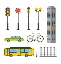 Design Elements for City or Map vector image
