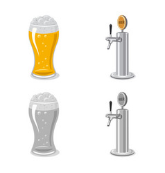 design of pub and bar icon collection of vector image