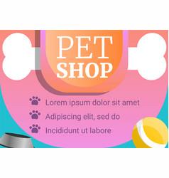 Dog pet shop concept banner cartoon style vector
