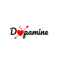 Dopamine word text typography design logo icon vector