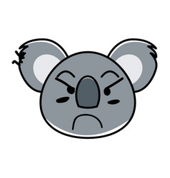 Flat type of animal face expression vector