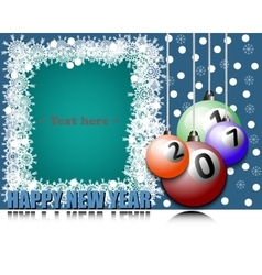 Frame Happy new yearand billiard ball vector image