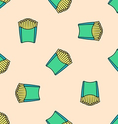 french fries colored seamless pattern vector image
