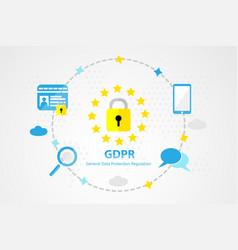 General data protection regulation background vector