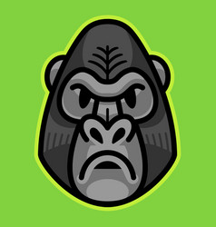 Gorilla ape monkey face vector