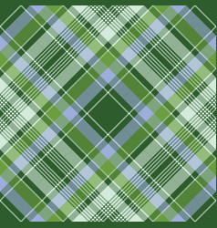 Green check plaid fabric texture pixel seamless vector