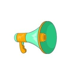 Green loudspeaker icon cartoon style vector