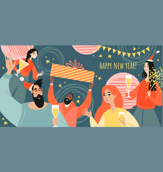 greeting banner for new year vector image