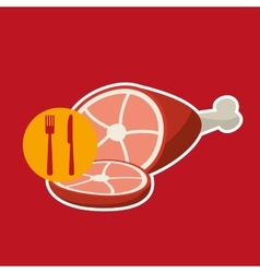 Grill fast food concept grill chicken vector