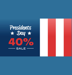 happy presidents day holiday big sale concept vector image