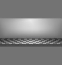 illuminated realistic studio checkered background vector image