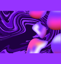 Landing page background style liquid vector