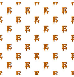 Letter e from caramel pattern vector