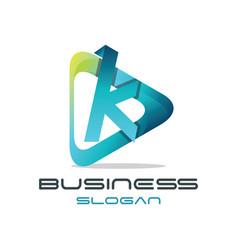 Letter k media logo vector
