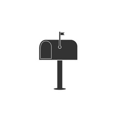 mail box icon isolated mailbox icon mail postbox vector image