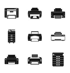 Office technical specialist icons set simple vector